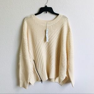 She + Sky | oversized chunky sweater One Size